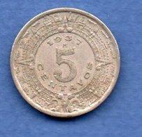 Mexique--   5 Centavos 1937  - Km # 423  - état  TTB - Mexiko