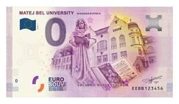 0 Euro-Schein Souvenir Slowakei 2018 - Matej - Bel - Universität - Banská Bystrica - EURO