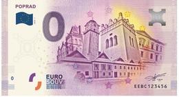 0 Euro-Schein Souvenir Slowakei 2018 - POPRAD - EURO