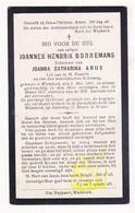 DP Joannes H. Borremans ° Wambeek Ternat 1881 † 1917 X Joanna Cath. Arijs - Devotion Images