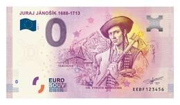 0 Euro-Schein Souvenir Slowakei 2018 - JURAJ JANOSIK - EURO