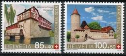 ** 2018 - SVIZZERA / SWITZERLAND - PRO PATRIA - FORTEZZE E CASTELLI / FORTRESSES AND CASTLES. MNH - Nuovi