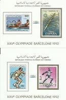 COMORES YVERT  464/67 EN HOJAS BLOQUE  MNH  ** - Comores (1975-...)