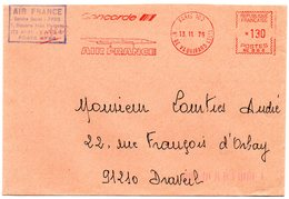 AVION = PARIS 1979 = EMA  Illustrée = ' AIR FRANCE CONCORDE' - Marcophilie (Lettres)