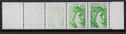 Sabine -  N° 2154 -  3 Timbres Impression à Sec  Dans Bande De 5 ** - Signés Calvès - 1977-81 Sabine Of Gandon
