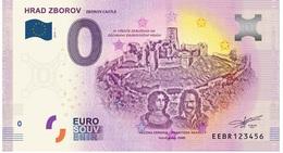0 Euro-Schein Souvenir Slowakei 2019 - BURG ZBOROV - EURO