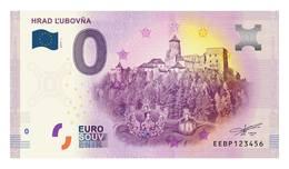 0 Euro-Schein Souvenir Slowakei 2019 - BURG LUBOVNA - EURO