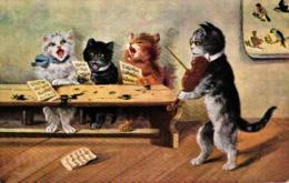 Katze, Katzen, Musiklehrer, Um 1910/20 - Katzen
