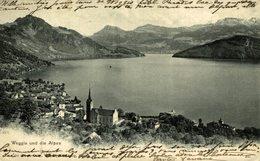 Weggis Und Die Alpen,  Suiza Switzerland Suisse Schweiz - Suiza