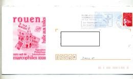 Pap Luquet Flamme Mont Saint Aignan Parc Technopol Illustré Marcophilex Rouen - Postal Stamped Stationery