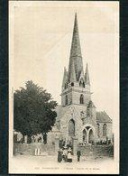 CPA - Karten Bost - ROSPORDEN - L'Eglise - Sortie De La Messe, Animé  (dos Non Divisé) - Autres Communes
