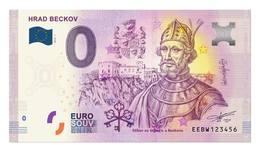 0 Euro-Schein Souvenir Slowakei 2019 - Beckov Burg - EURO