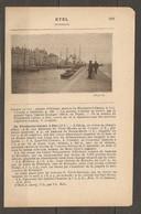 1921 ETEL CHEMIN DE FER RESEAU D'ORLEANS STATION DE PLOUHARNEL CARNAC A 14 KM LIGNE AURAY QUIBERON - Railway