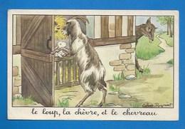 """ILLUSTRATEUR : CALVET-ROGNIAT- FABLE DE LA FONTAINE """"LE LOUP, LA CHÈVRE ET LE CHEVREAU  ÉD.  ÉDUCATIVES TEXTE VERSO - Fairy Tales, Popular Stories & Legends"""