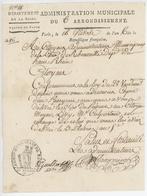 Paris An 6 - Administration Canton De Paris  Passeport Meyer Lévy Ribeauvillé Judaïca - Documenti Storici