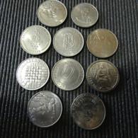 Portugal Complete Collection 25 Escudos Commemorative Total 10 Coins - Portugal