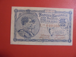 BELGIQUE 1 FRANC 1920 PEU CIRCULER PRESQUE NEUF ! - [ 2] 1831-... : Royaume De Belgique