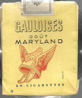 Ancien Paquet Vide En Papier  De 20 Cigarettes Gauloises Goût Maryland - Estuches Para Cigarrillos (vacios)