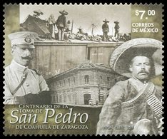 2014 México PANCHO VILLA Revolutionaries Who Camped On The Roof Of A Train. Stamp MNH TREN FERROCARRIL - México