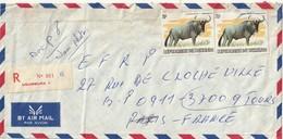 Burundi - Lettre Avec Timbres - - 1980-89: Oblitérés