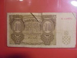 CROATIE 10 KUNA 1941 CIRCULER(B.1) - Croatia