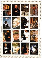 Ajman,1973 Famous People Including De Gaulle,Napolen,Churchill ,etc... Sheetlet Perforat.on Paper16v.MNH- ONLY SKRILL - Ajman