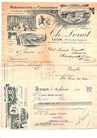 1911 FACTURE + TRAITE CH. LOUOT MANUFACTURE DE CHAUSSURES à LYON - France
