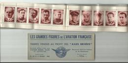 2 Eme Carnet Les Grandes Figures De L Aviation Francaise Vendu Au Profit Des Ailes Brisees - Booklets