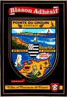 BLASON ADHESIF...POINTE DE GROUIN   CANCALE ...CPM - Maps