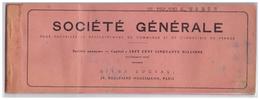 1958 - Chéquier De La Société Générale (Paris 8ème) - Agence Centrale Du  20 Bd Haussmann - FRANCO DE PORT - Chèques & Chèques De Voyage