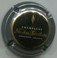 CJ-CAPSULE-CHAMPAGNE FEUILLATTE NICOLAS N°50c E Sous A Ctr. Gris Foncé Centre Noir - Feuillate