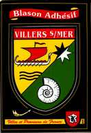 BLASON ADHESIF...VILLERS S/MER ...CPM - Maps