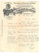 1946 COURRIER SARLIEVE FABRIQUE DE FROMAGES BLEUS à LAQUEUILLE PUY DE DOME - France