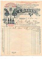 1912 L. BAGES GRANDE DISTILLERIE DE BRIOUDE HAUTE LOIRE - France