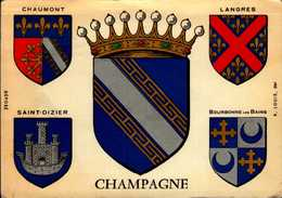 CHAMPAGNE..ECUSSONS ...CPSM GRAND FORMAT - Maps