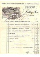 1911 FACTURE J. SUTHY FOURNITURES POUR CHAUSSURES à ISSOIRE PUY DE DOME - France