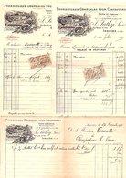 1915 3 FACTURES J. SUTHY FOURNITURES POUR CHAUSSURES à ISSOIRE PUY DE DOME - France