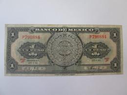 Mexico 1 Peso 1961 Banknote - México
