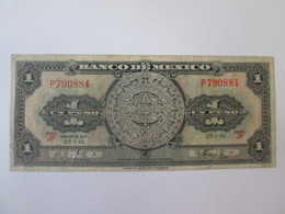 Mexico 1 Peso 1961 Banknote - Mexico