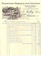 1913 FACTURE J. SUTHY FOURNITURES POUR CHAUSSURES à ISSOIRE PUY DE DOME - France