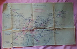 Plan SNCF Région Sud Est 1943 Chemins De Fer - Technical Plans