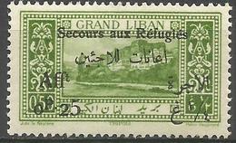 Lebanon - 1926 Refugees Charity (Tripoli) 50c+25c  MNH **    Mi 80  Sc B2 - Unused Stamps
