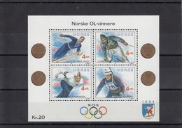 Norway 11.10.1991 Mi # Bl 16 Norwegian Olympic Champions, Lillehammer Winter Olympics (III) MNH OG - Winter 1994: Lillehammer