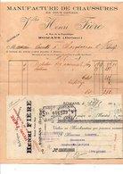 1913 + TRAITE FACTURE Vve HENRI FIERE MANUFACTURE DE CHAUSSURES à ROMANS DROME - France