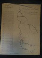 Plan SNCF Région Sud Est Relevage Du Matériel Roulant Déraillé 1943 Chemins De Fer - Technical Plans