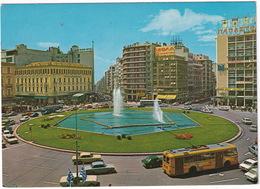 Athens: TROLLEYBUS, FORD P7, TAUNUS 12M P4, ESCORT MK1, OPEL REKORD C, PEUGEOT 504 - Omonia Square - (Greece) - Toerisme