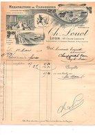 1911 FACTURE CH. LOUOT MANUFACTURE DE LYON - France