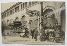 Matériel Agricole Engreneur OMNIUM Moissonneuse Batteuse Moteur à Vapeur Tracteur Exposition à BOURGES 18 - Tractors