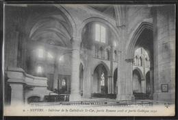 CPA 58 - Nevers, Intérieur De La Cathédrale St-Cyr - Partie Romane Et Partie Gothique - Nevers