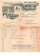 1911 FACTURE CH. LOUOT MANUFACTURE DE CHAUSSURES à CLERMONT FERRAND - France